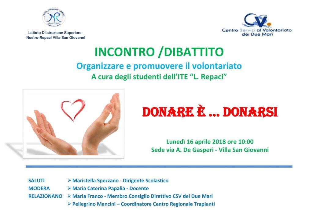 Donare e Donarsi